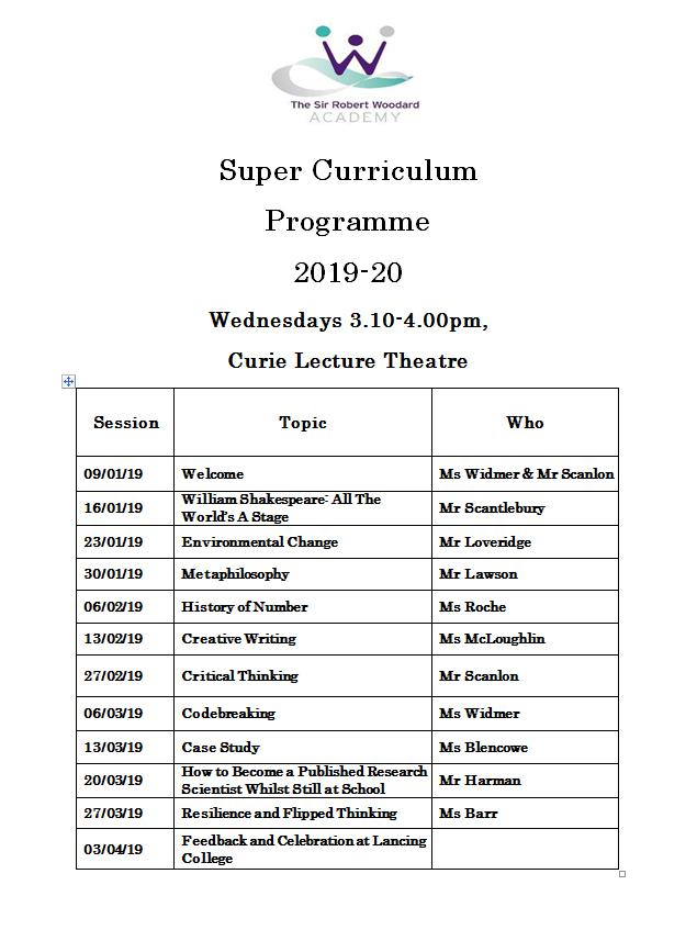 Super curric programme